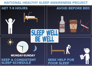 Sleeping well is good for health